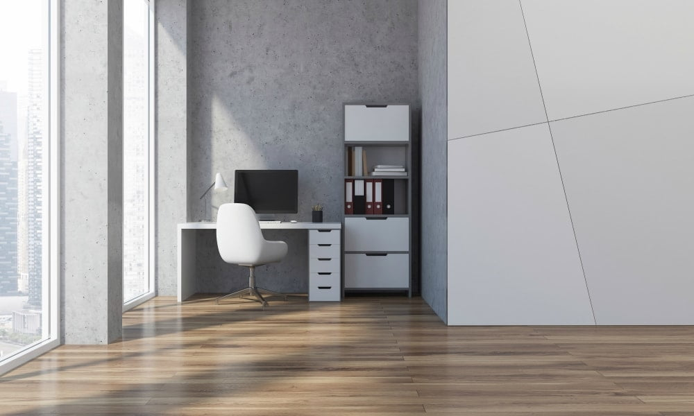 setting up a home office in a small space