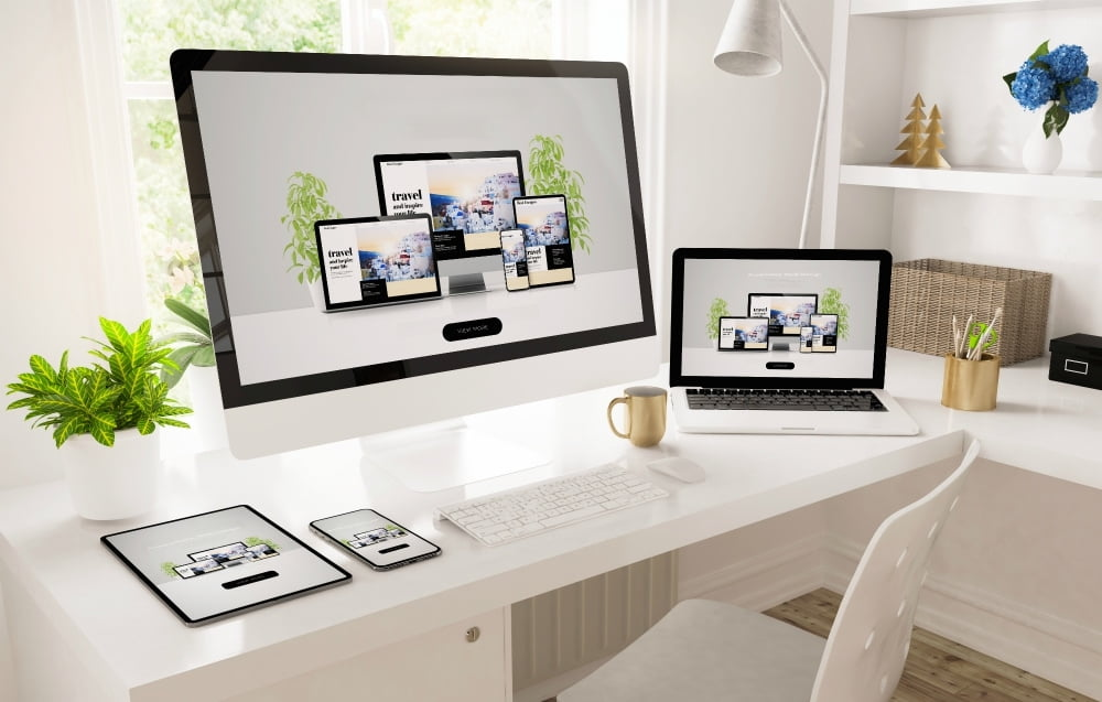 work from home computer setup